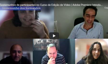 Testemunhos de participantes no Curso de Edição de Vídeo | Adobe Premiere Introdução